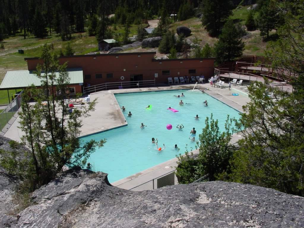 Lolo Hot Springs pool